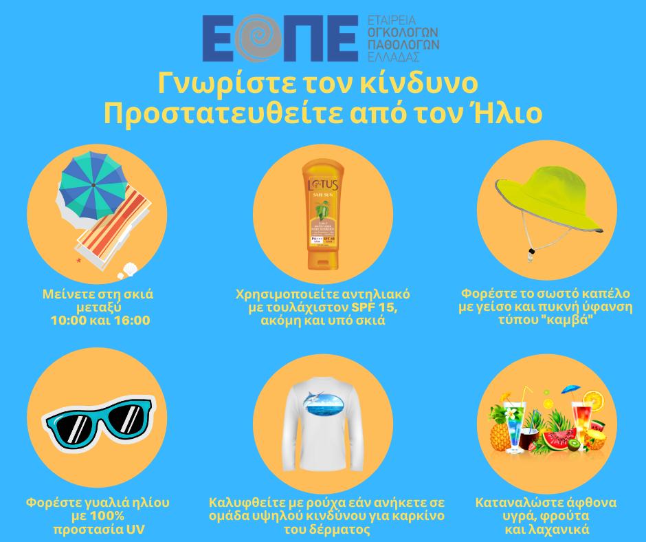 ΕΟΠΕ-Προστατευθείτε από τον Ήλιο